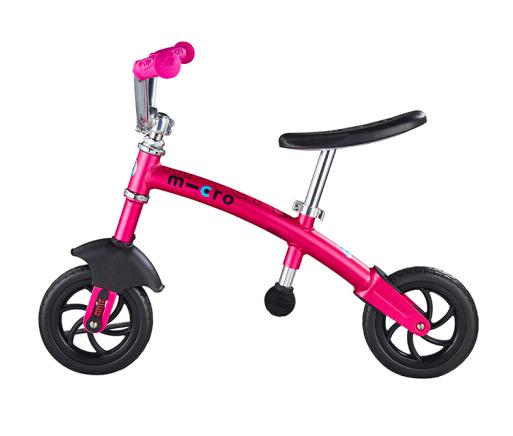 【机车款】瑞士m-cro迈古平衡车可调节高度锻炼平衡感滑步骑士滑步车 粉红色