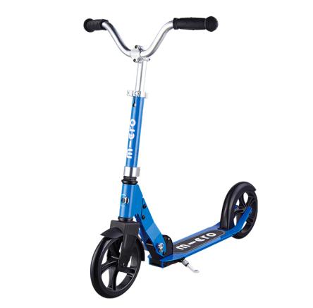 【上学代步】瑞士m-cro迈古巡乐号儿童二轮滑板车可调节高度可折叠 蓝色