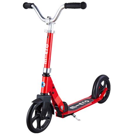 上学代步】瑞士m-cro迈古巡乐号儿童二轮滑板车可调节高度可折叠 红色
