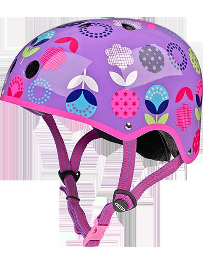 瑞士m-cro迈古滑板车专用儿童头盔 紫色花款